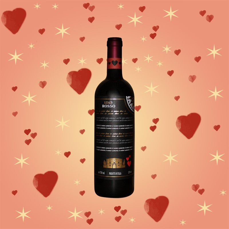 Red Wine from Italy Love