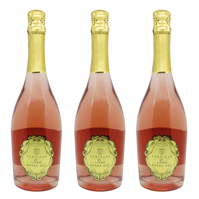 Rose spumante Sparkling Extra Dry - Kit 3 Bottles