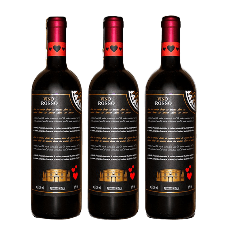 "Red wine from Italy ""Love"" 3 bottles"