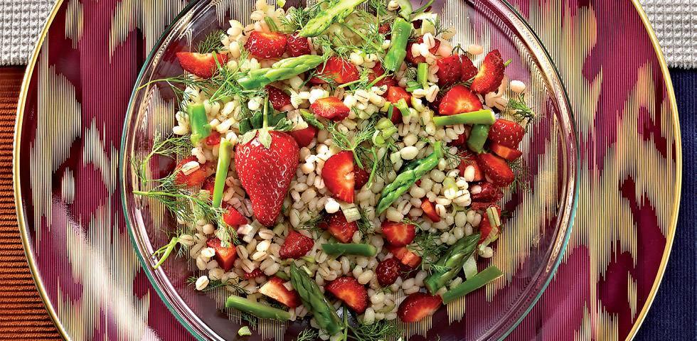 barley salad asparagus strawberry