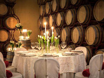 Dinner in Wine Cellar