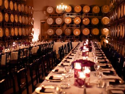 Dinner in Wine Cellar