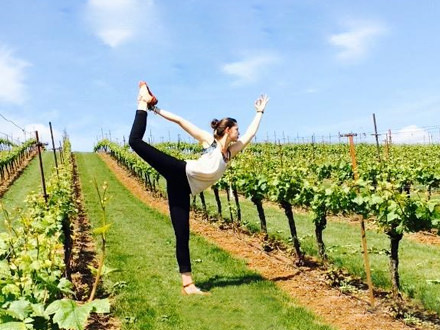 Yoga in Vineyard